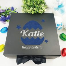 Personalised Black Easter Box - Easter Egg