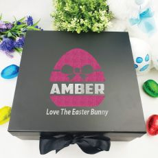 Personalised Black Easter Box - Bow Egg