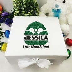 Personalised Easter Box - Bow Egg