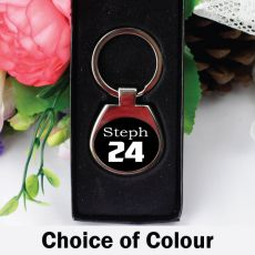 Personalised Birthday Keyring Gift -Any Age