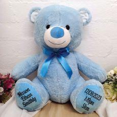 Baby Teddy Bear Blue 40cm Plush