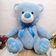 Personalised Teddy Bear Blue 40cm Plush