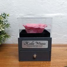 Eternal Pink Rose Baptism Jewellery Gift Box