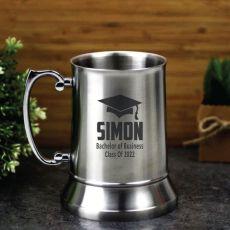 Graduation Engraved Stainless Steel Beer Stein