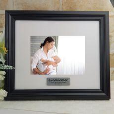 Personalised Godmother Frame Black Timber Hathorne 5x7