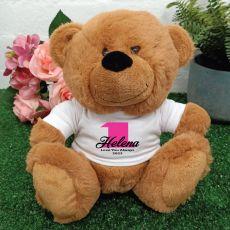 1st Teddy Bear Brown Personalised Plush