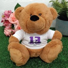 13th Teddy Bear Brown Personalised Plush