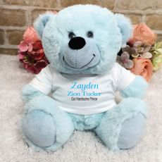 Newborn Personalised Teddy Bear Baby Boy