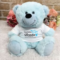 Personalised Graduation Teddy Bear - Light Blue