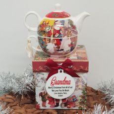 Santa Tea for One in Personalised Grandma Gift Box