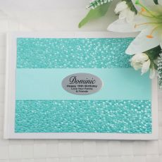 18th Birthday Guest Book Keepsake Album- Aqua Pebble