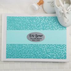 Baby Guest Book Keepsake Album- Aqua Pebble