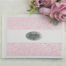 13th Birthday Guest Book Keepsake Album- Pink Pebble