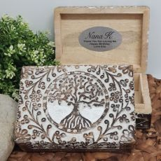 Nan Tree Of Life Boho Carved Wooden Box
