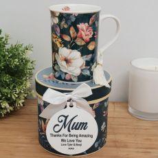 Mum Mug with Personalised Gift Box - Bouquet