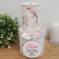 Mum Mug with Personalised Gift Box - Magnolia Bird