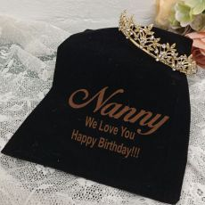 Nan Gold Vine Tiara in Personalised Bag