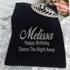 Birthday Large Heart Tiara in Personalised Bag