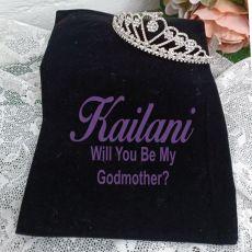 GodMother Large Heart Tiara in Personalised Bag