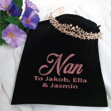 Nan Bitrhday Tiara Rose Gold in Personalised Bag