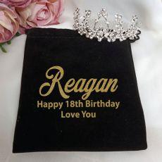 18th Birthday Medium Floral Tiara in Personalised Bag