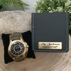 Teacher Axim Mens Watch Personalised Box