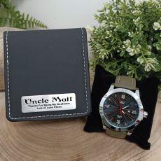 Godfather Green Pagan Mens Watch Personalised Box