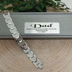 Dad Mens Urban Metal Bracelet - Braun