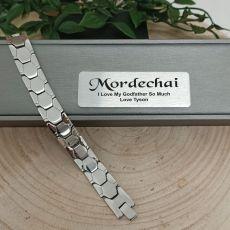 GodFather Mens Urban Metal Bracelet - Braun