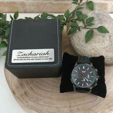 Retirement  Watch 48mm Black Dresden Personalised Box