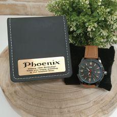 16th Birthday Watch Pagan Brown 45mm Mesh Personalised Box