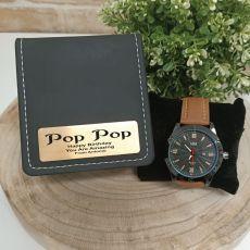 Pop Watch Pagan Brown 45mm Mesh Personalised Box
