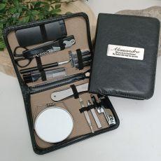 Groomsman Mens Black Grooming Kit Gift Set