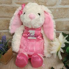 1st Birthday Personalised Bunny Bella Ballerina