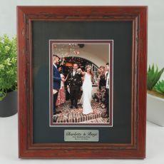 Wedding Photo Frame 5x7 Wooden with Black Surround