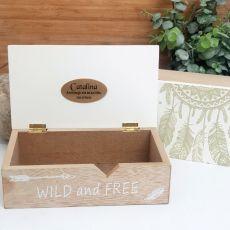 Personalised Wild & Free Dream Catcher Box