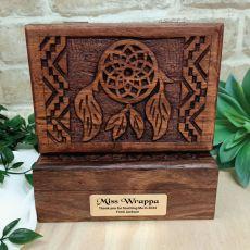 Teacher Carverd Wood Trinket Box Dreamcatcher