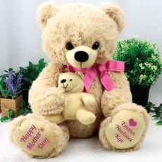 Mothers Day Teddy with Baby Bear