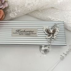 Personalised Memorial Butterfly  Suncatcher