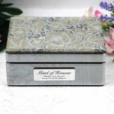 Maid of Honour Jewellery Box Mirrored Golden Glitz