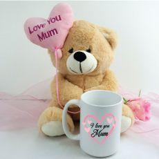 Love Mum Coffee Mug and Bear Set