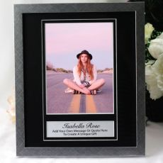 Personalised Photo Frame 6x8 Black/Silver