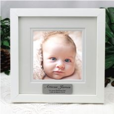 Personalised Naming Day Instagram Photo Frame 5x5 White/Black Wood
