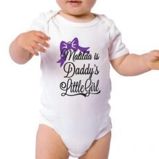 Daddy's Little Girl Baby Bodysuit - Personalised