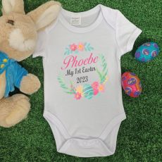 Personalised Easter Bodysuit - Floral Wreath