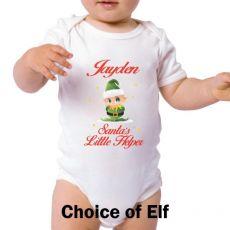 Personalised Christmas Baby Bodysuit -Santa's Helper