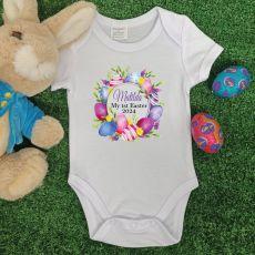 Personalised Easter Bodysuit - Eggs