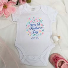 Personalised Mothers Day  Bodysuit -Floral