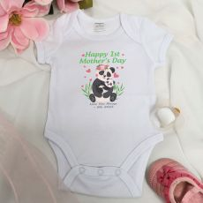 Personalised Mothers Day  Bodysuit - Panda