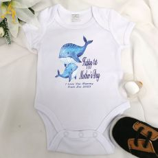 Personalised Mothers Day  Bodysuit - Whale